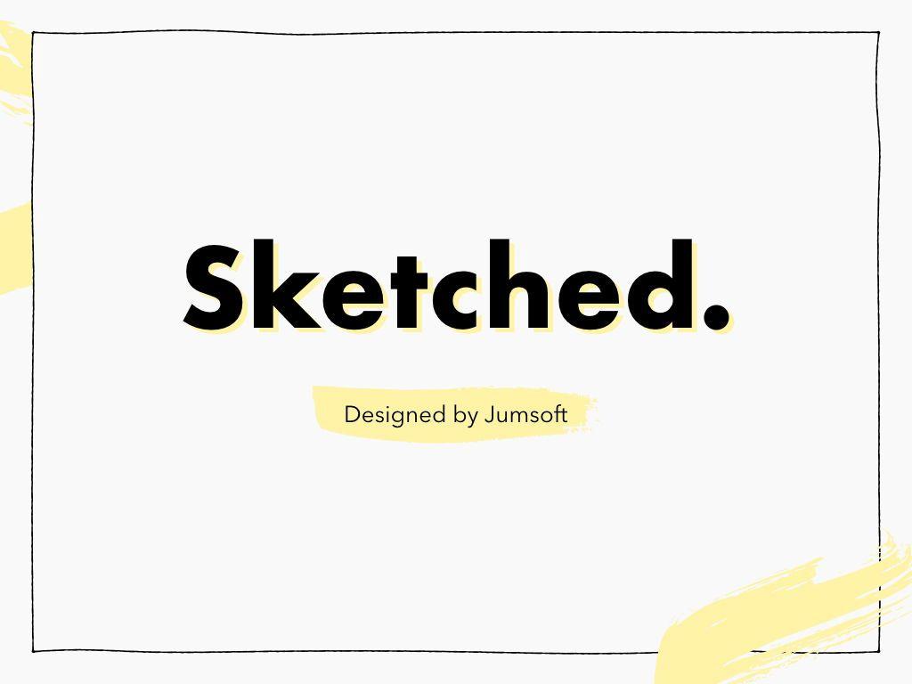 Sketched Keynote Theme, Slide 3, 05111, Presentation Templates — PoweredTemplate.com