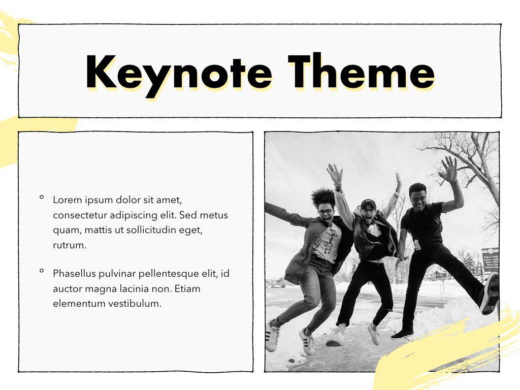 Sketched Keynote Theme, Slide 30, 05111, Presentation Templates — PoweredTemplate.com