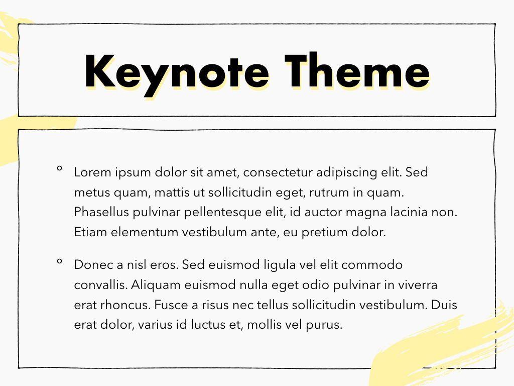Sketched Keynote Theme, Slide 4, 05111, Presentation Templates — PoweredTemplate.com