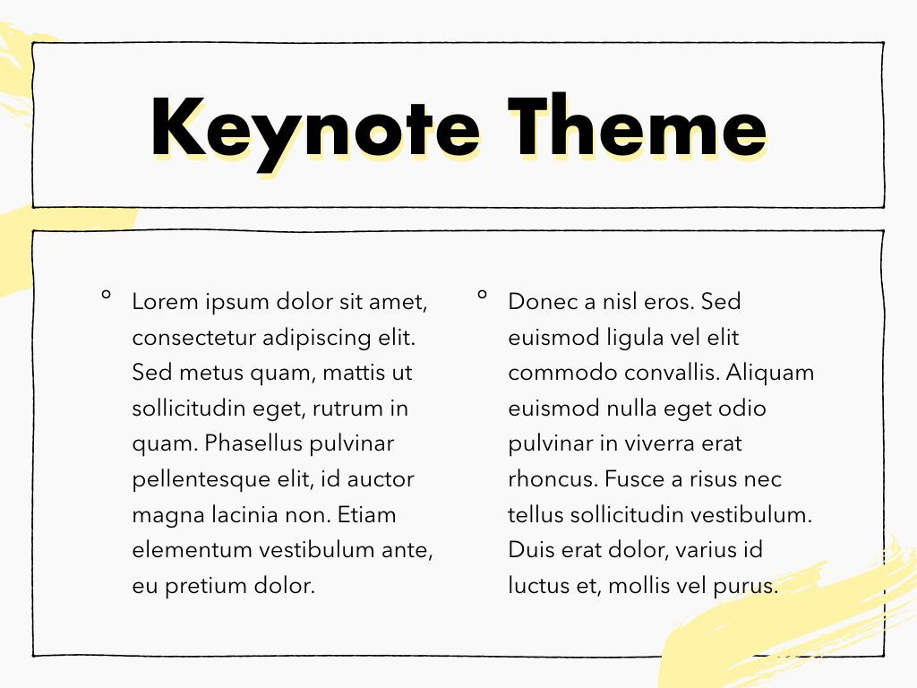 Sketched Keynote Theme, Slide 5, 05111, Presentation Templates — PoweredTemplate.com