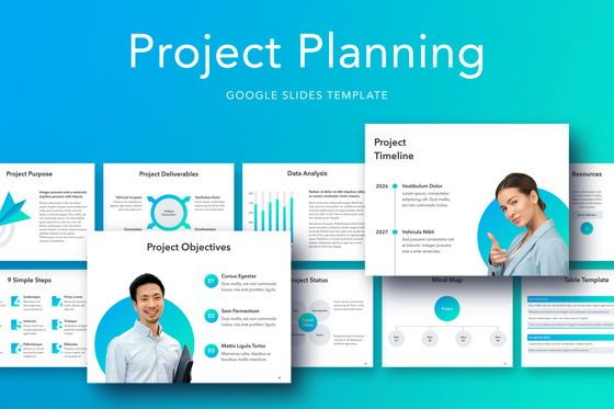 Presentation Templates: Project Planning Google Slides Template #05112