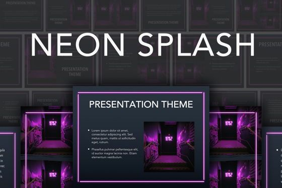 Presentation Templates: Neon Splash Google Slides Template #05113