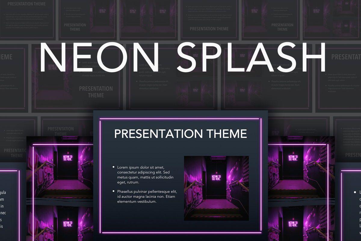 Neon Splash Google Slides Template, 05113, Presentation Templates — PoweredTemplate.com