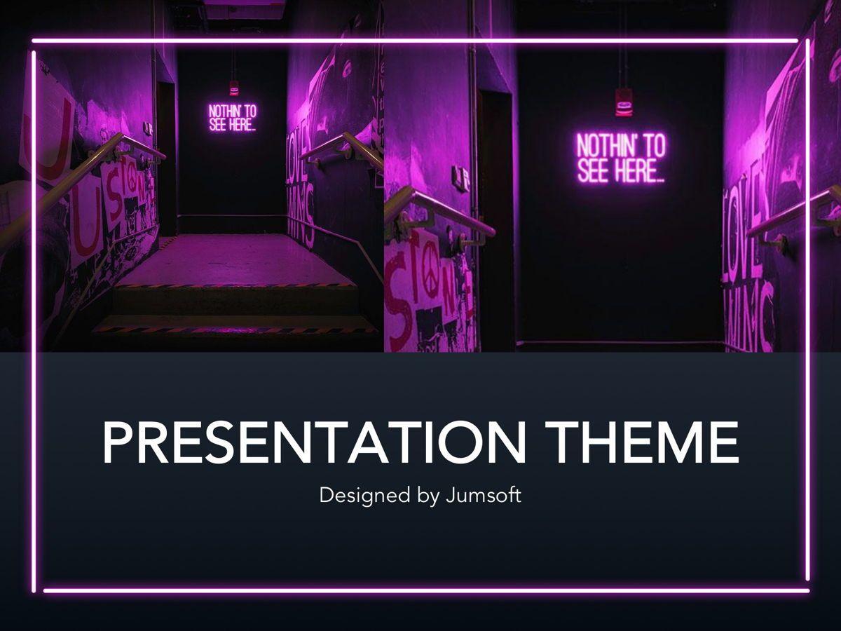 Neon Splash Google Slides Template, Slide 11, 05113, Presentation Templates — PoweredTemplate.com