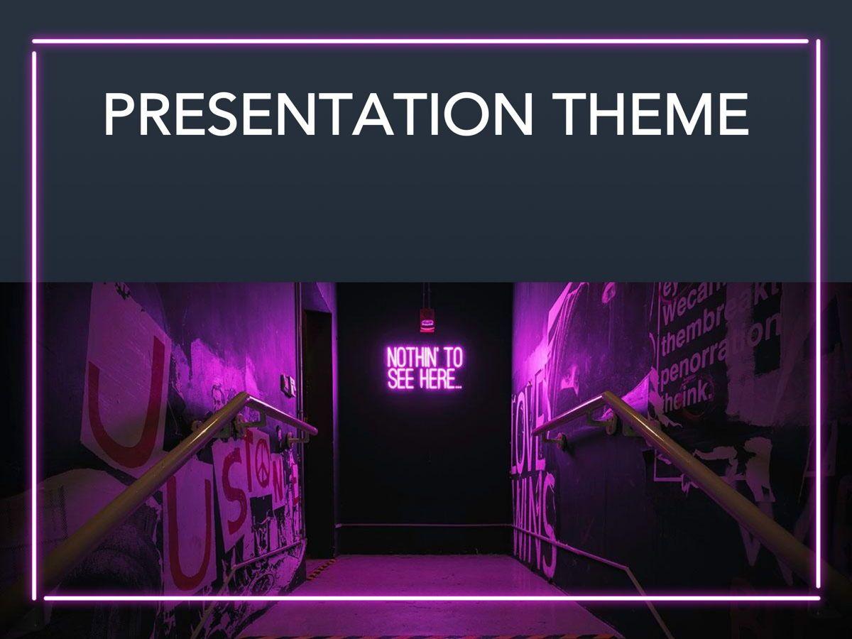 Neon Splash Google Slides Template, Slide 12, 05113, Presentation Templates — PoweredTemplate.com