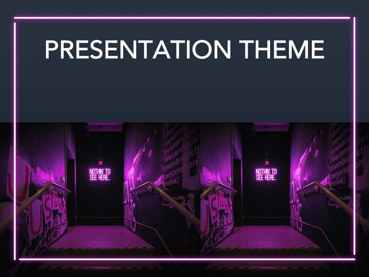 Neon Splash Google Slides Template, Slide 13, 05113, Presentation Templates — PoweredTemplate.com