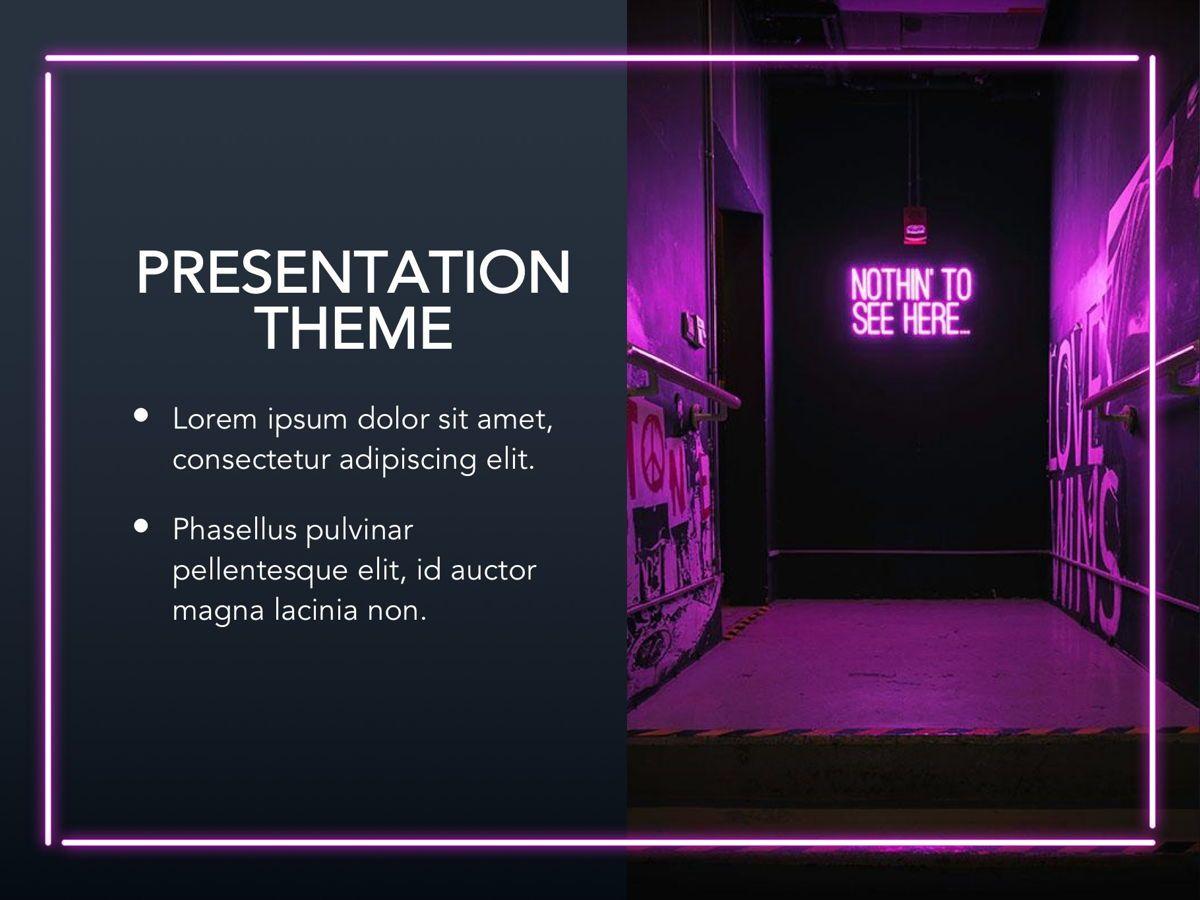 Neon Splash Google Slides Template, Slide 14, 05113, Presentation Templates — PoweredTemplate.com