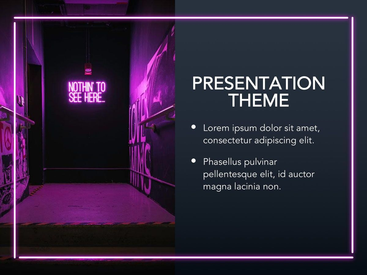Neon Splash Google Slides Template, Slide 15, 05113, Presentation Templates — PoweredTemplate.com