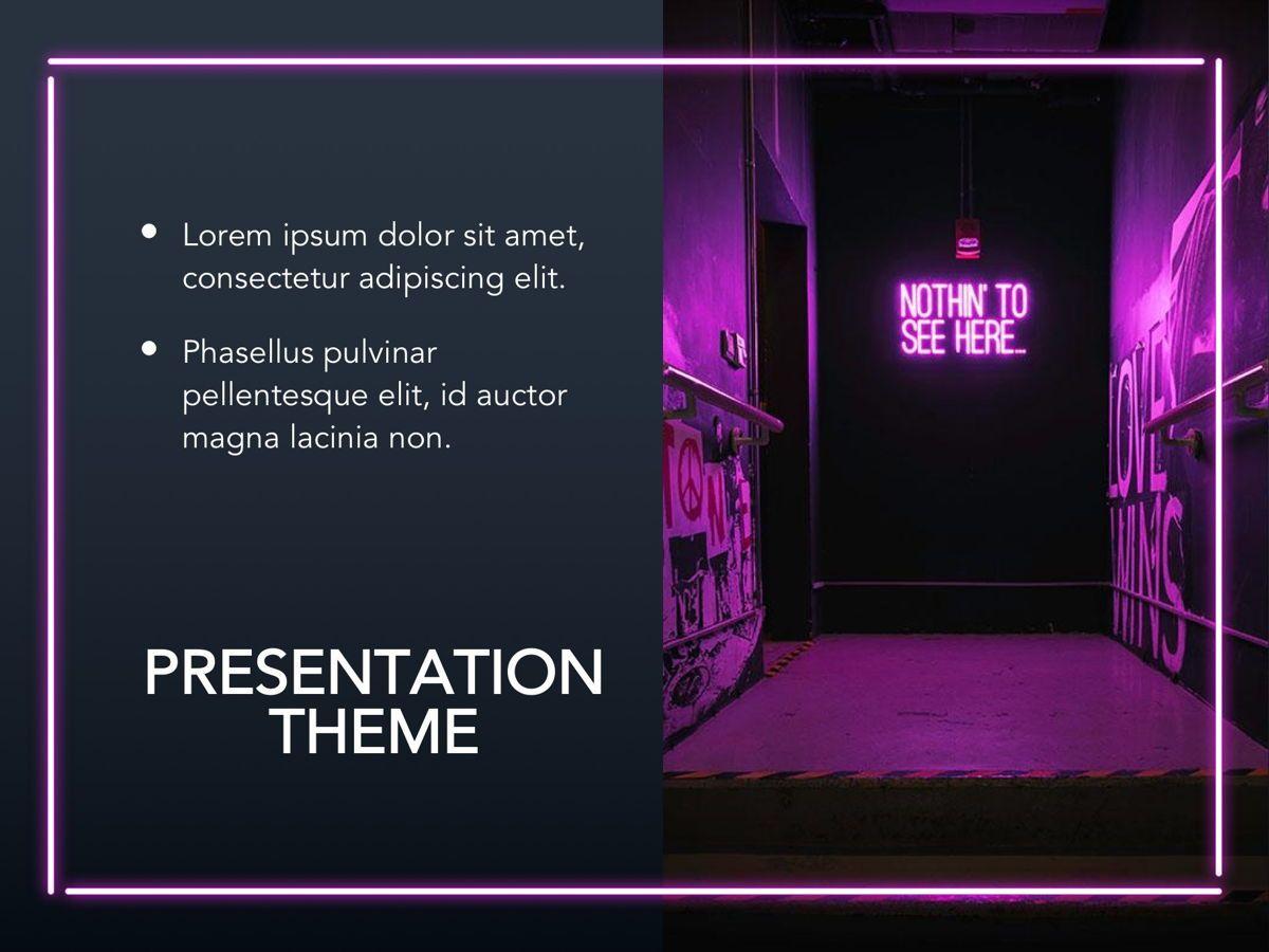 Neon Splash Google Slides Template, Slide 16, 05113, Presentation Templates — PoweredTemplate.com