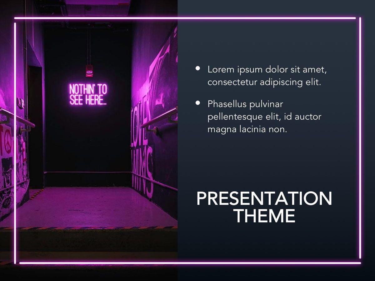 Neon Splash Google Slides Template, Slide 17, 05113, Presentation Templates — PoweredTemplate.com