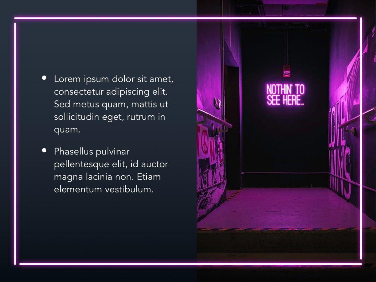 Neon Splash Google Slides Template, Slide 18, 05113, Presentation Templates — PoweredTemplate.com