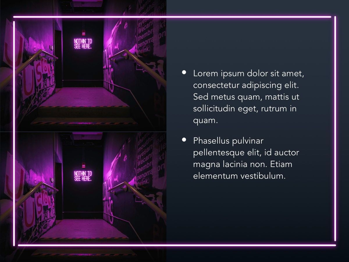 Neon Splash Google Slides Template, Slide 21, 05113, Presentation Templates — PoweredTemplate.com