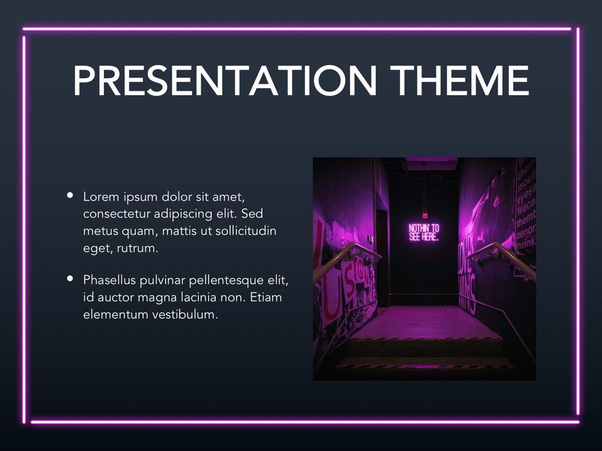 Neon Splash Google Slides Template, Slide 27, 05113, Presentation Templates — PoweredTemplate.com