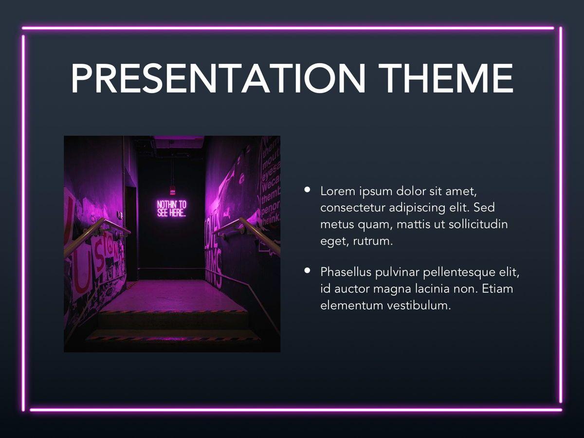 Neon Splash Google Slides Template, Slide 28, 05113, Presentation Templates — PoweredTemplate.com