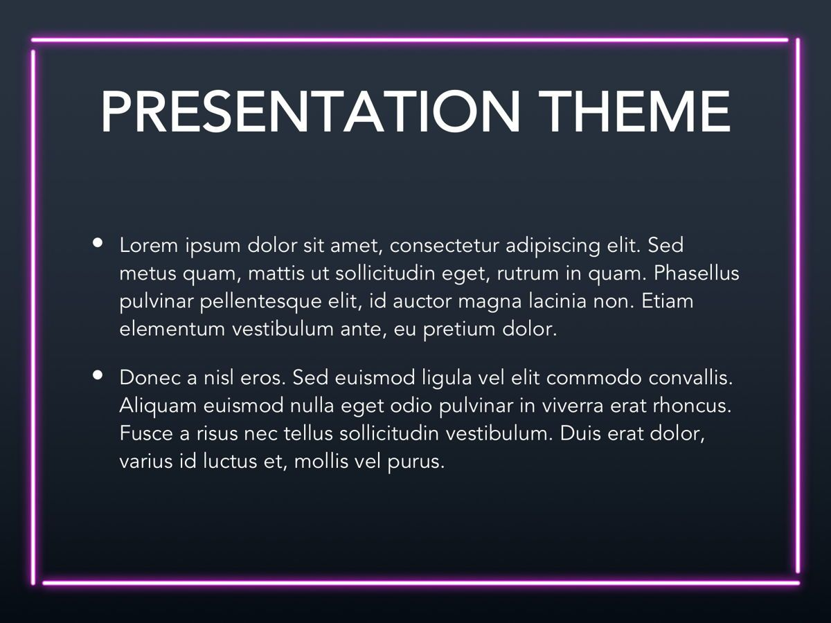 Neon Splash Google Slides Template, Slide 3, 05113, Presentation Templates — PoweredTemplate.com