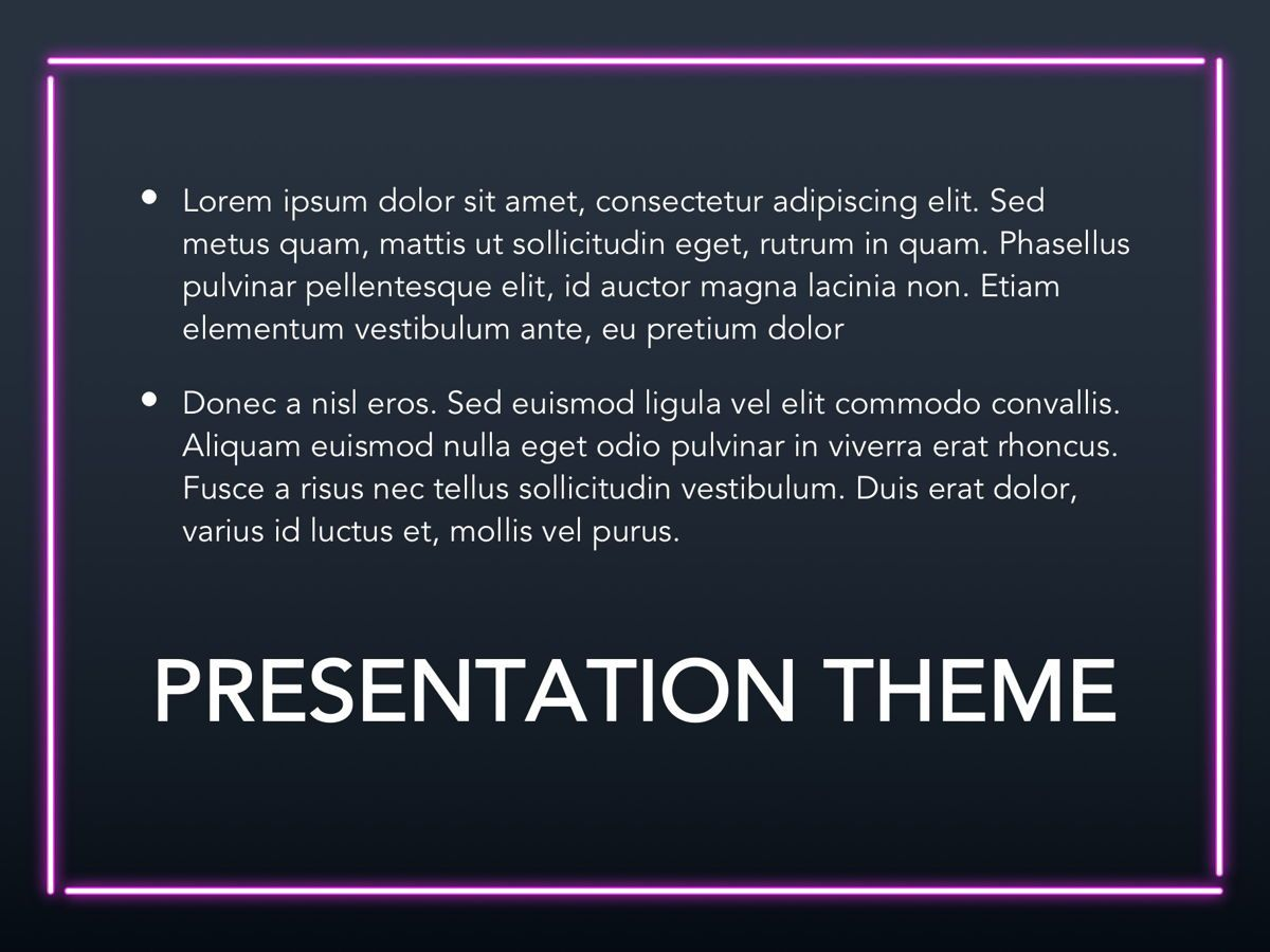 Neon Splash Google Slides Template, Slide 9, 05113, Presentation Templates — PoweredTemplate.com