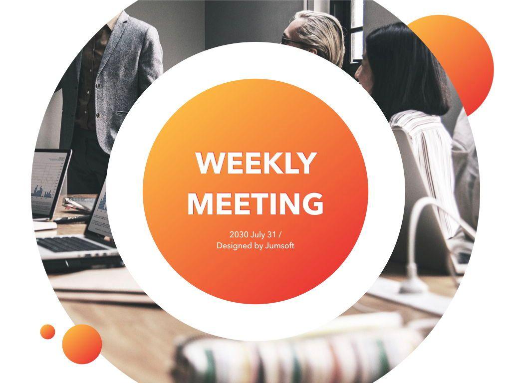 Weekly Meeting PowerPoint Template, Slide 2, 05114, Presentation Templates — PoweredTemplate.com