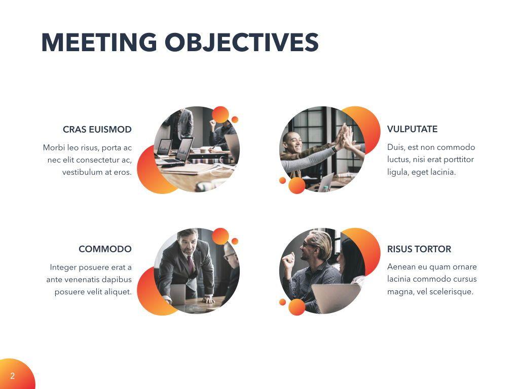 Weekly Meeting PowerPoint Template, Slide 3, 05114, Presentation Templates — PoweredTemplate.com