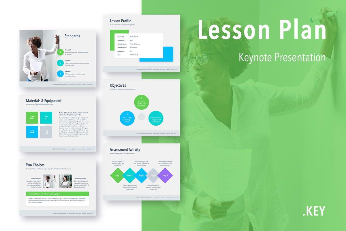 Lesson Plan Keynote Template, 05115, Presentation Templates — PoweredTemplate.com