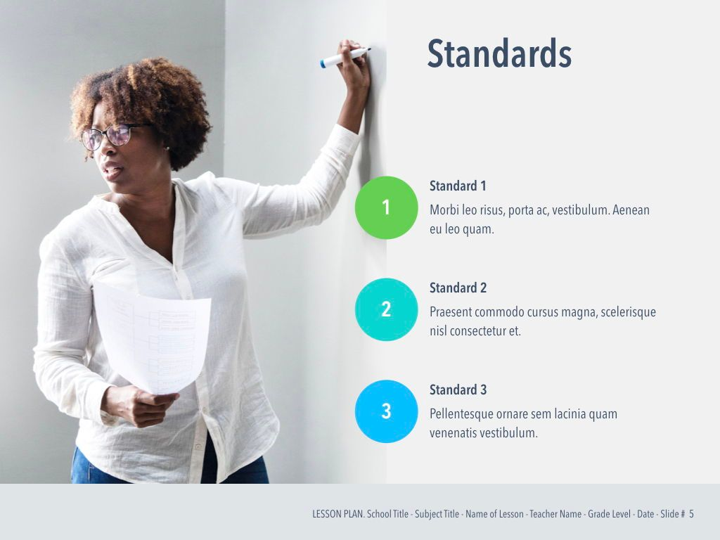 Lesson Plan Keynote Template, Slide 6, 05115, Presentation Templates — PoweredTemplate.com