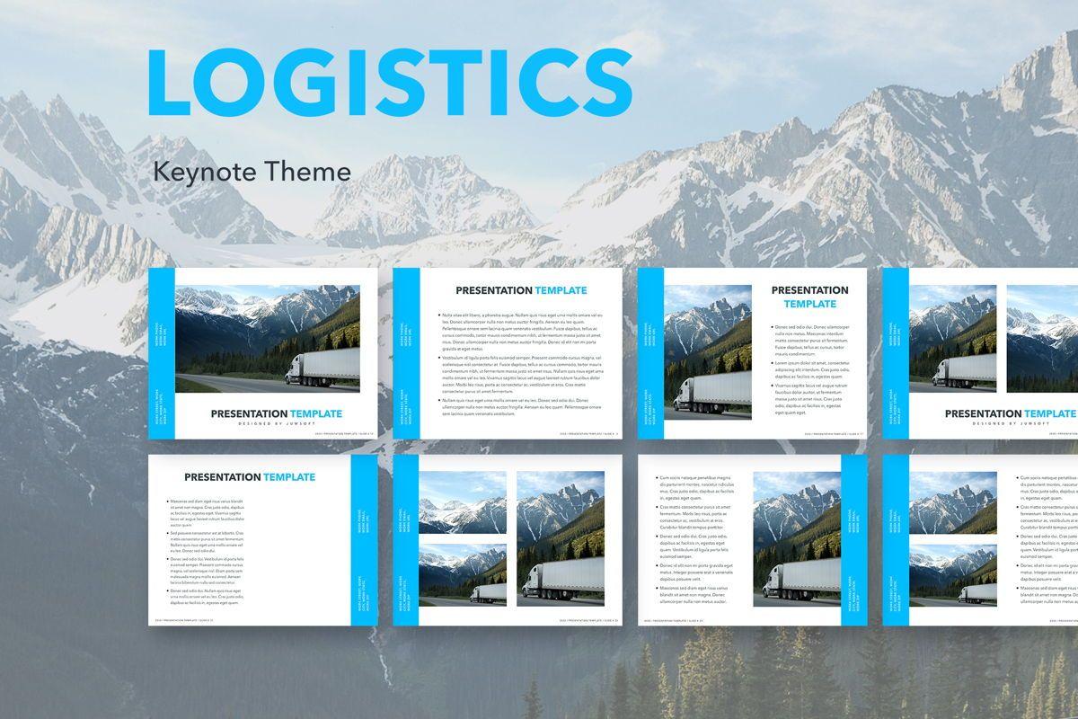 Logistics Keynote Theme, 05117, Presentation Templates — PoweredTemplate.com
