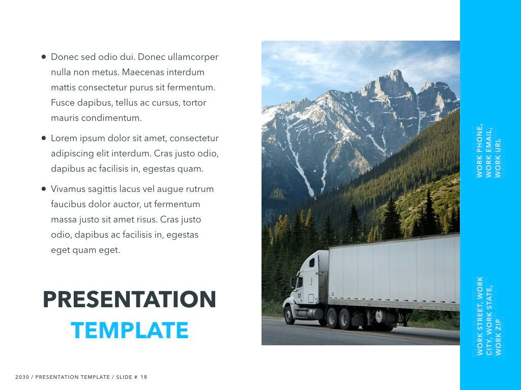 Logistics Keynote Theme, Slide 19, 05117, Presentation Templates — PoweredTemplate.com