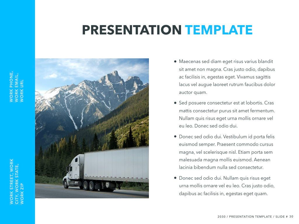 Logistics Keynote Theme, Slide 31, 05117, Presentation Templates — PoweredTemplate.com