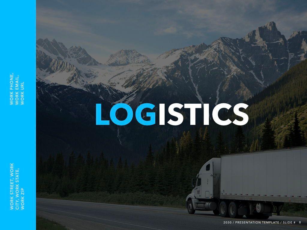 Logistics Keynote Theme, Slide 9, 05117, Presentation Templates — PoweredTemplate.com