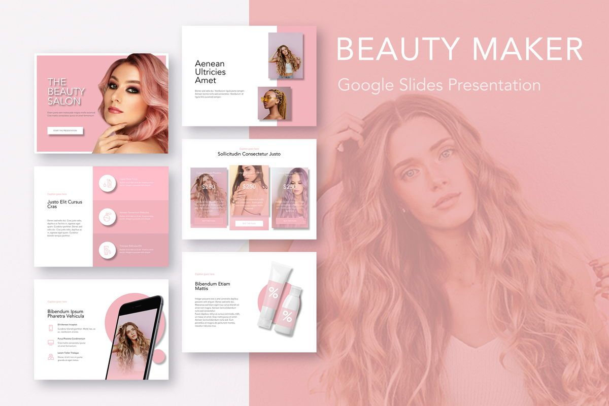 Beauty Maker Google Slides Template, 05118, Presentation Templates — PoweredTemplate.com