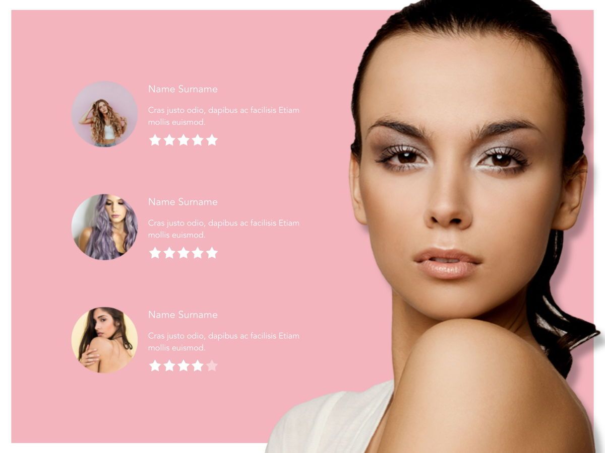 Beauty Maker Google Slides Template, Slide 17, 05118, Presentation Templates — PoweredTemplate.com