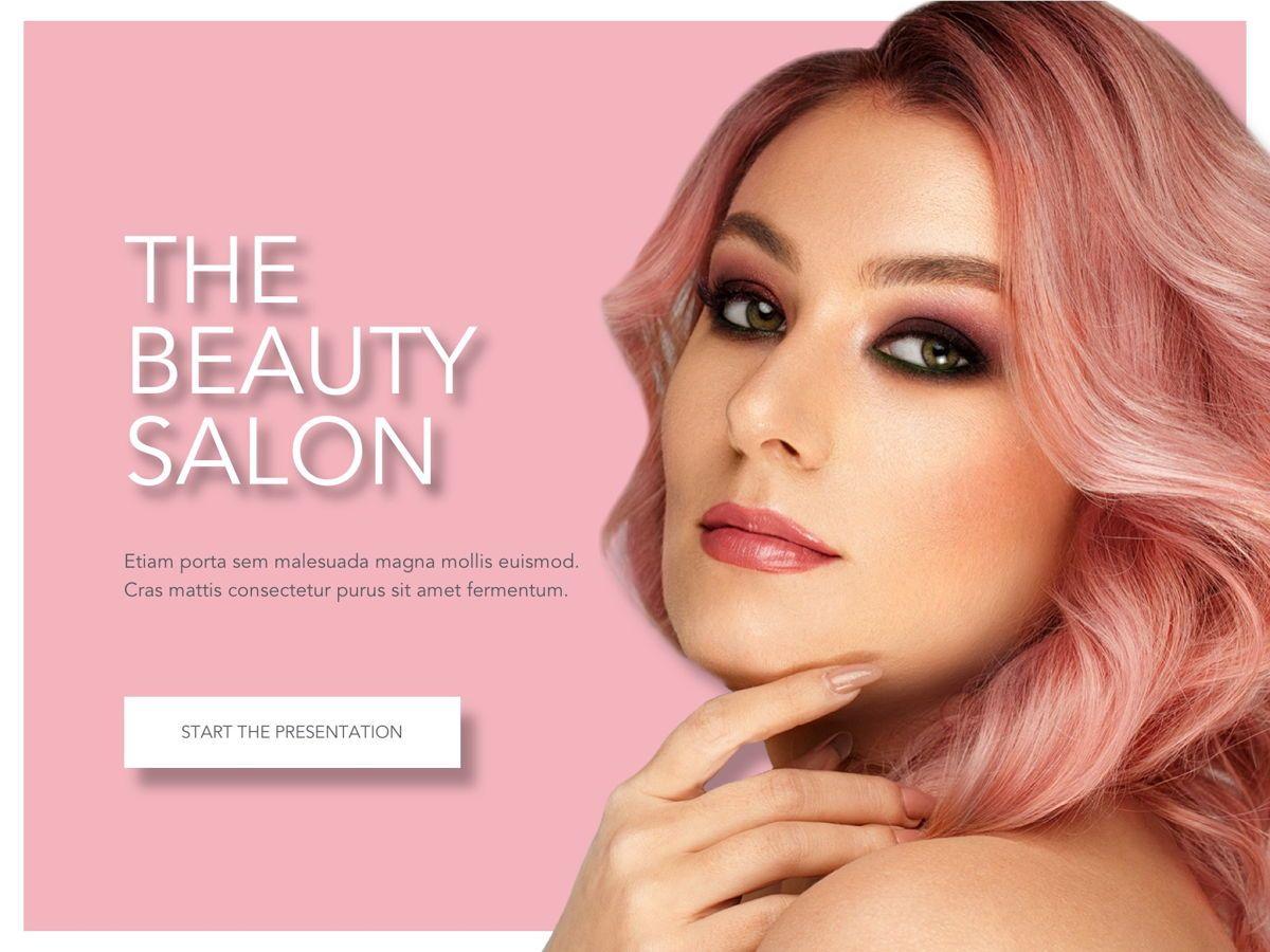 Beauty Maker Google Slides Template, Slide 2, 05118, Presentation Templates — PoweredTemplate.com