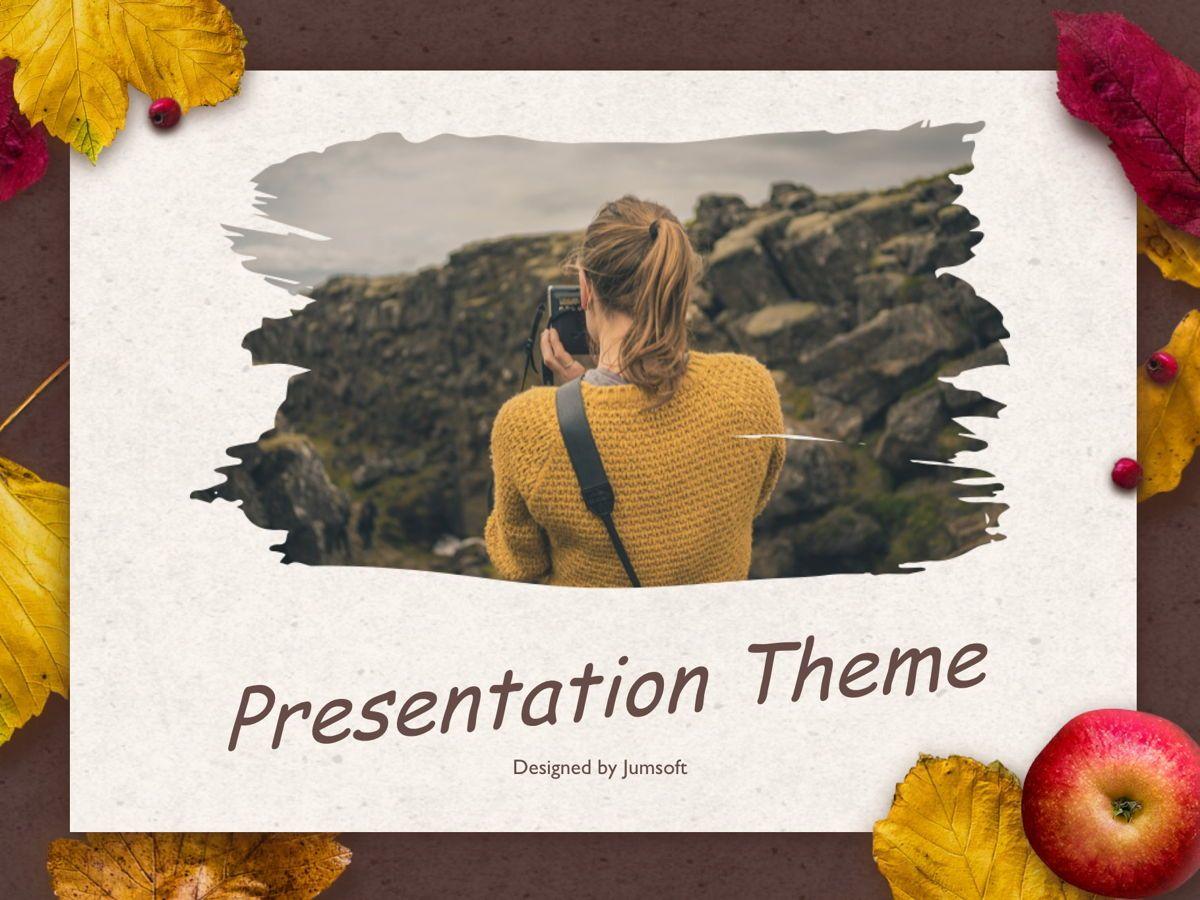 Golden Leaves Google Slides Theme, Slide 10, 05119, Presentation Templates — PoweredTemplate.com