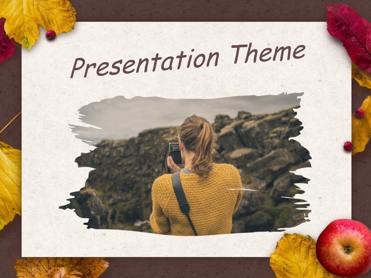 Golden Leaves Google Slides Theme, Slide 12, 05119, Presentation Templates — PoweredTemplate.com