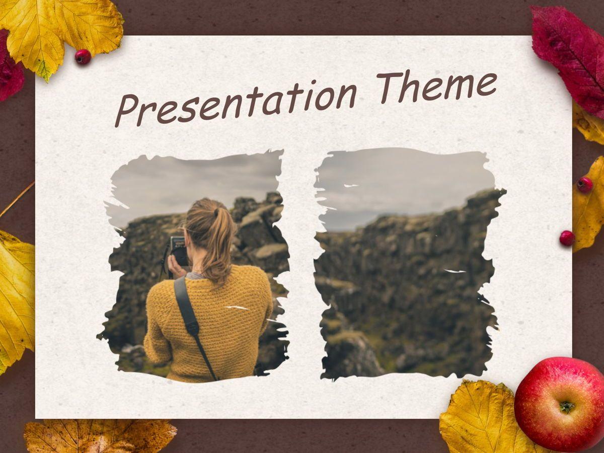 Golden Leaves Google Slides Theme, Slide 13, 05119, Presentation Templates — PoweredTemplate.com