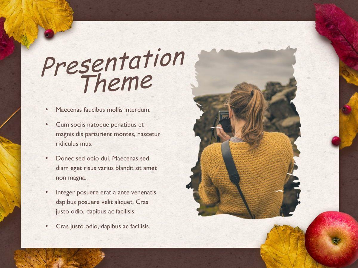 Golden Leaves Google Slides Theme, Slide 14, 05119, Presentation Templates — PoweredTemplate.com