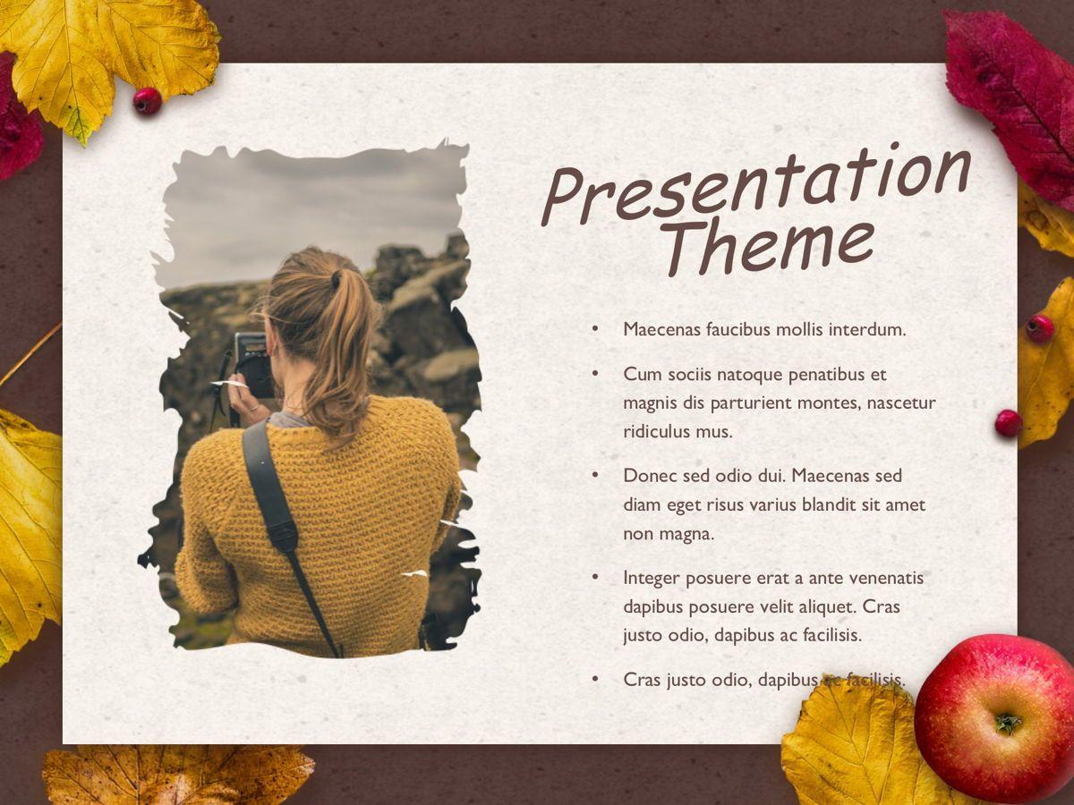 Golden Leaves Google Slides Theme, Slide 15, 05119, Presentation Templates — PoweredTemplate.com
