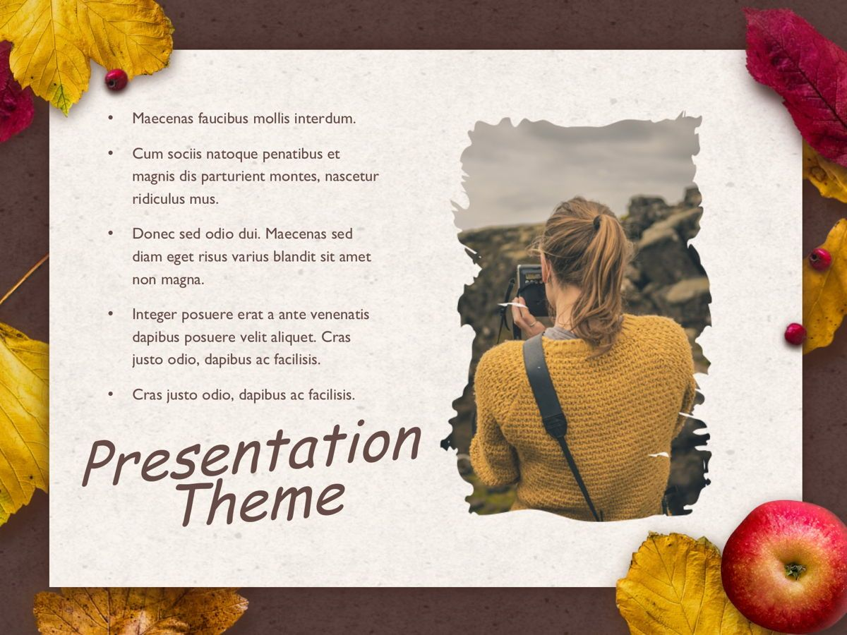 Golden Leaves Google Slides Theme, Slide 16, 05119, Presentation Templates — PoweredTemplate.com