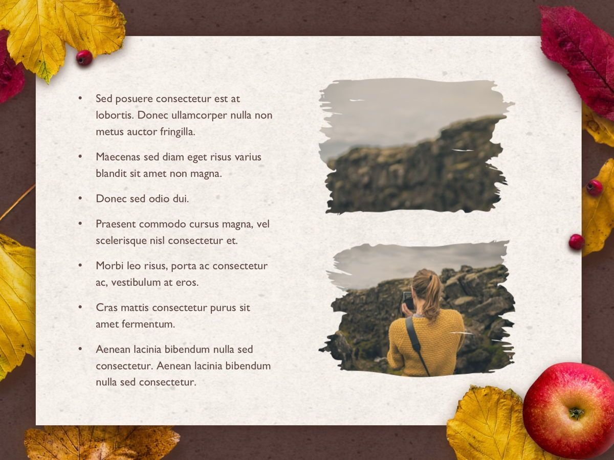 Golden Leaves Google Slides Theme, Slide 20, 05119, Presentation Templates — PoweredTemplate.com