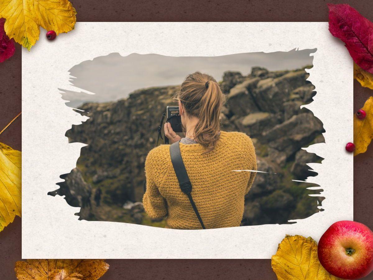 Golden Leaves Google Slides Theme, Slide 22, 05119, Presentation Templates — PoweredTemplate.com