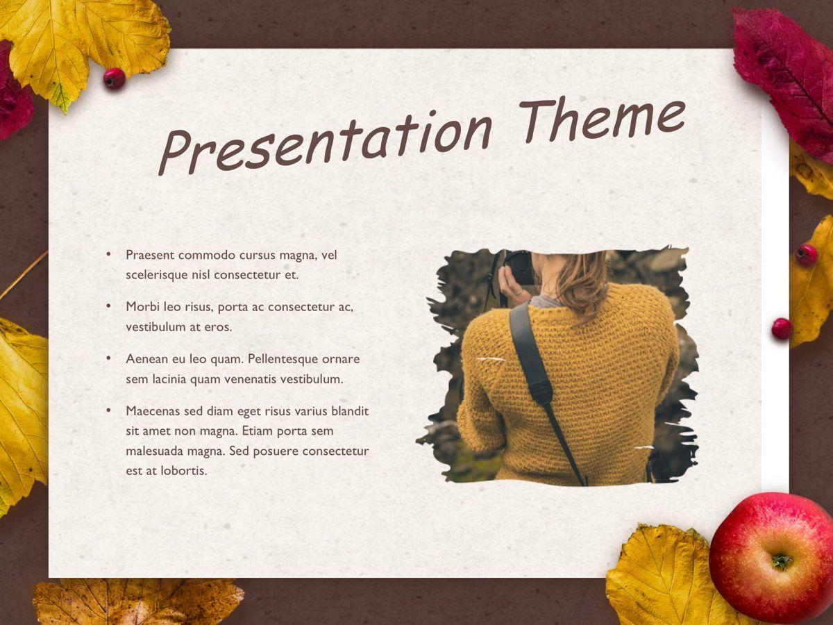 Golden Leaves Google Slides Theme, Slide 27, 05119, Presentation Templates — PoweredTemplate.com