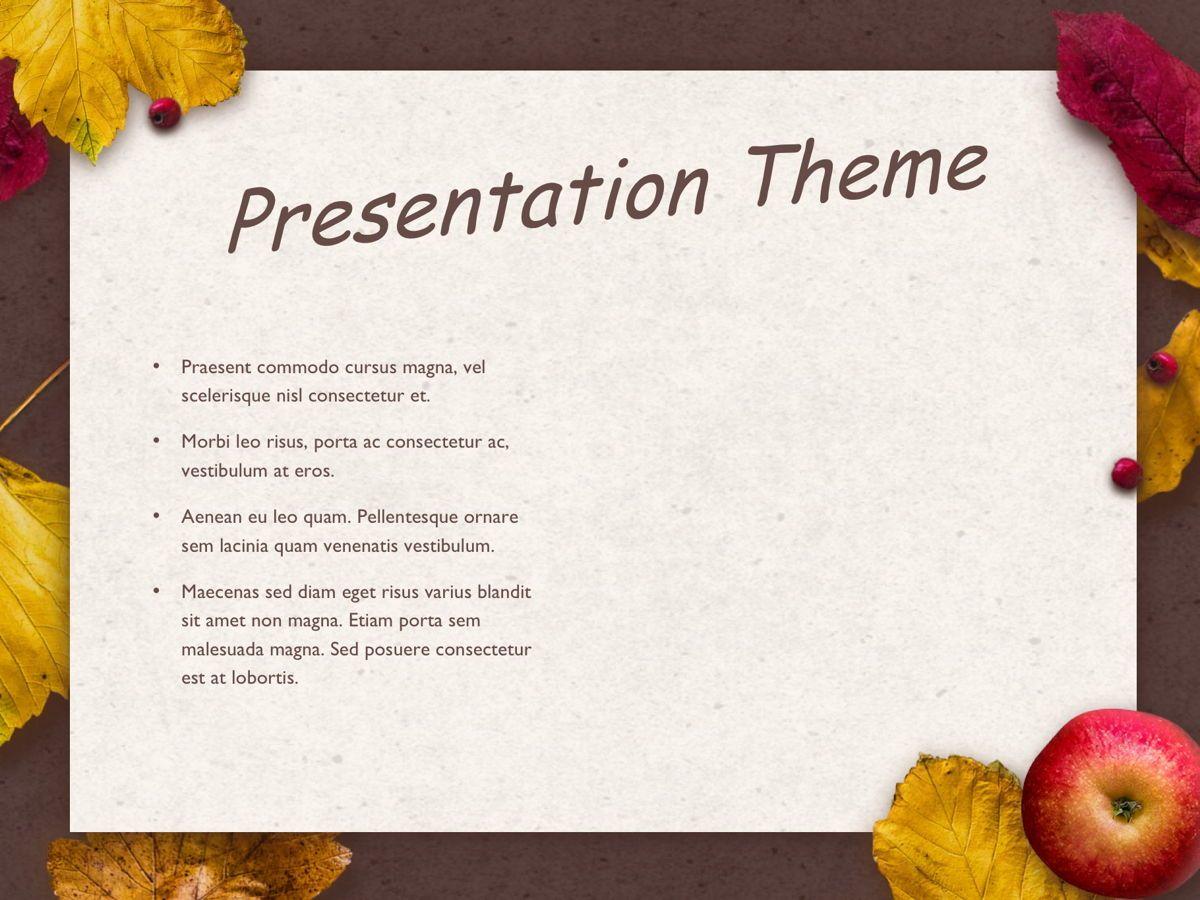 Golden Leaves Google Slides Theme, Slide 29, 05119, Presentation Templates — PoweredTemplate.com