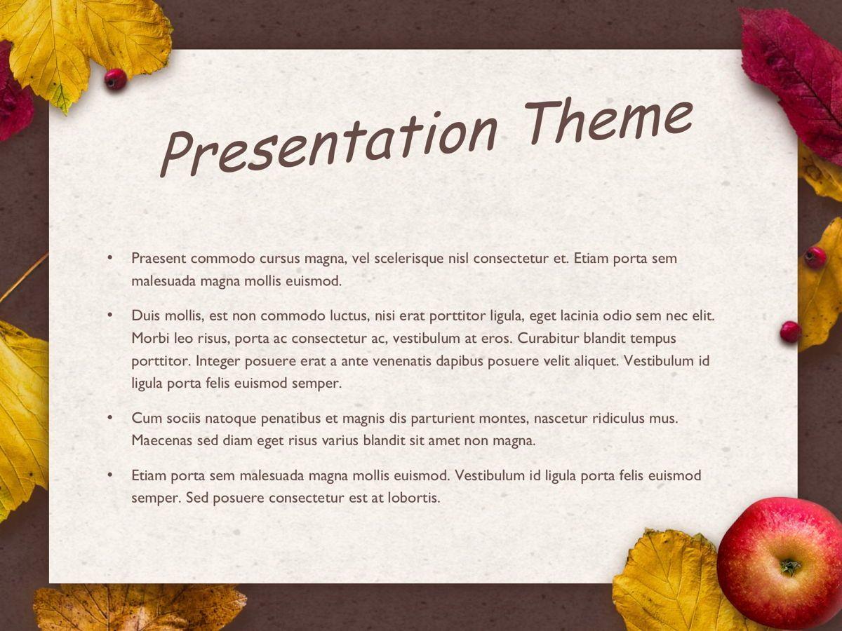 Golden Leaves Google Slides Theme, Slide 3, 05119, Presentation Templates — PoweredTemplate.com