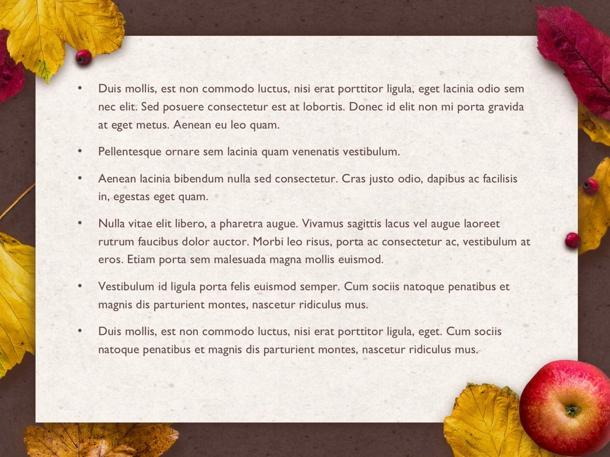 Golden Leaves Google Slides Theme, Slide 4, 05119, Presentation Templates — PoweredTemplate.com
