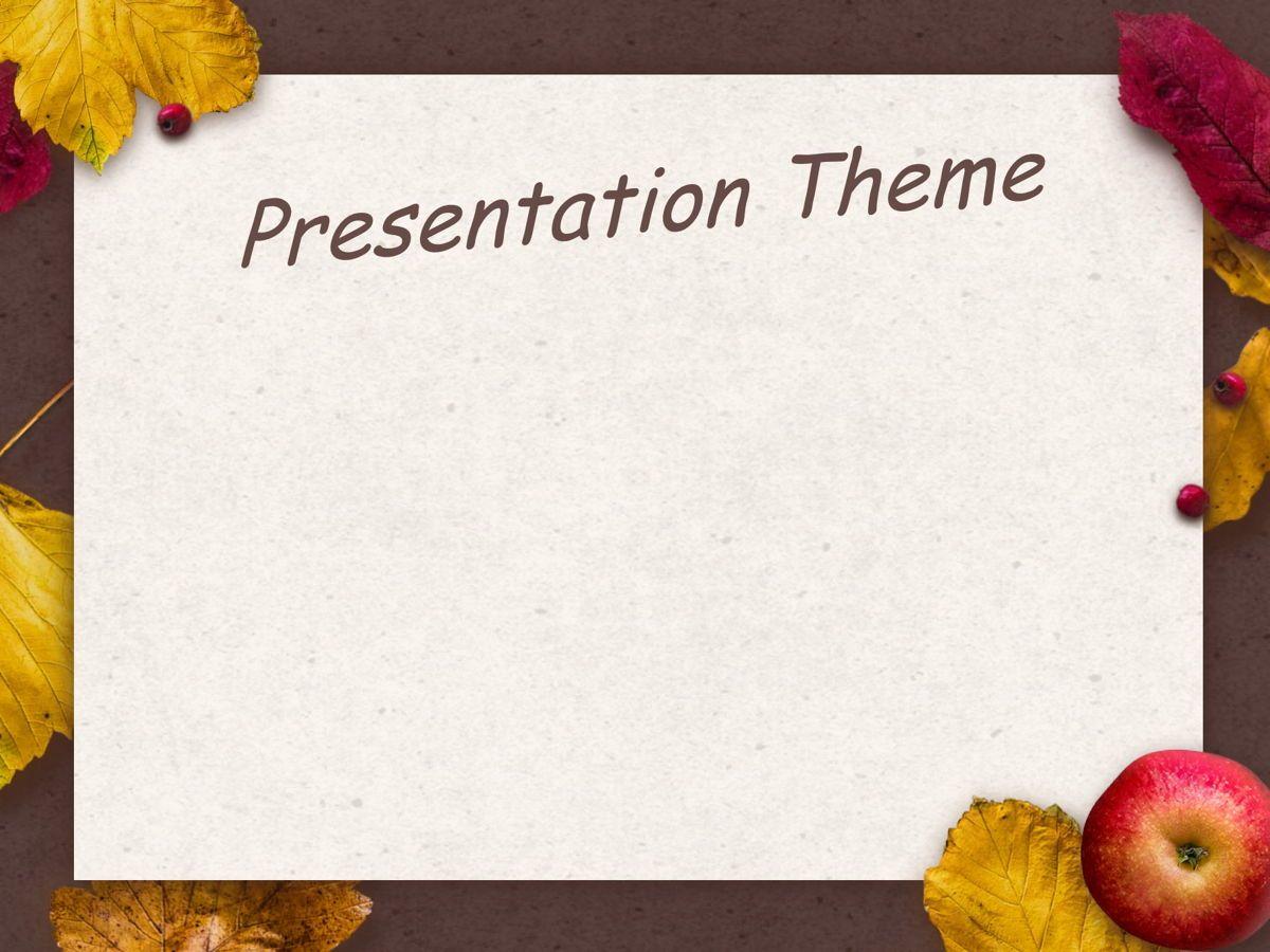 Golden Leaves Google Slides Theme, Slide 6, 05119, Presentation Templates — PoweredTemplate.com