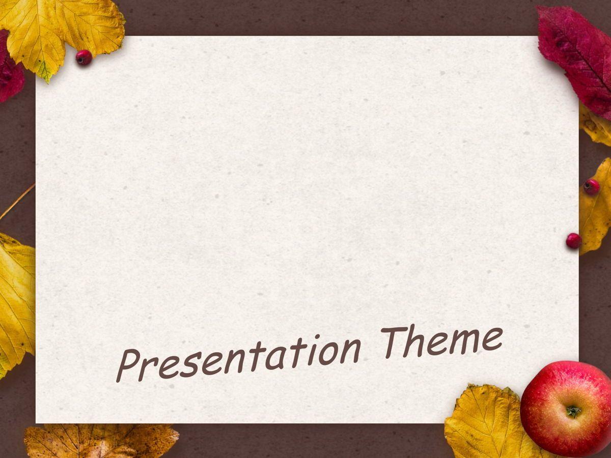 Golden Leaves Google Slides Theme, Slide 8, 05119, Presentation Templates — PoweredTemplate.com