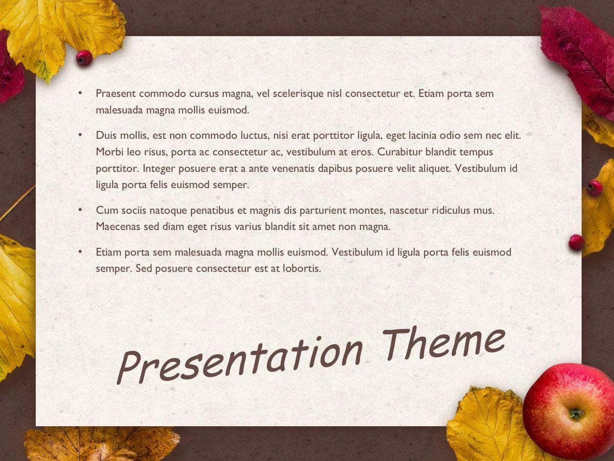 Golden Leaves Google Slides Theme, Slide 9, 05119, Presentation Templates — PoweredTemplate.com