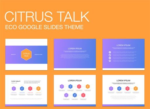 Presentation Templates: Citrus Talk 02 Google Slides Presentation Template #05121