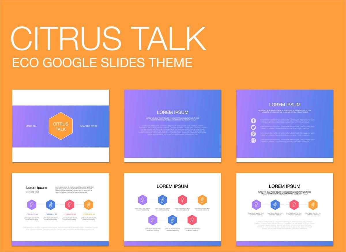 Citrus Talk 02 Google Slides Presentation Template, 05121, Presentation Templates — PoweredTemplate.com