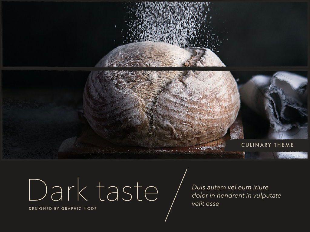 Dark Taste Google Slides Presentation Template, Slide 2, 05122, Presentation Templates — PoweredTemplate.com