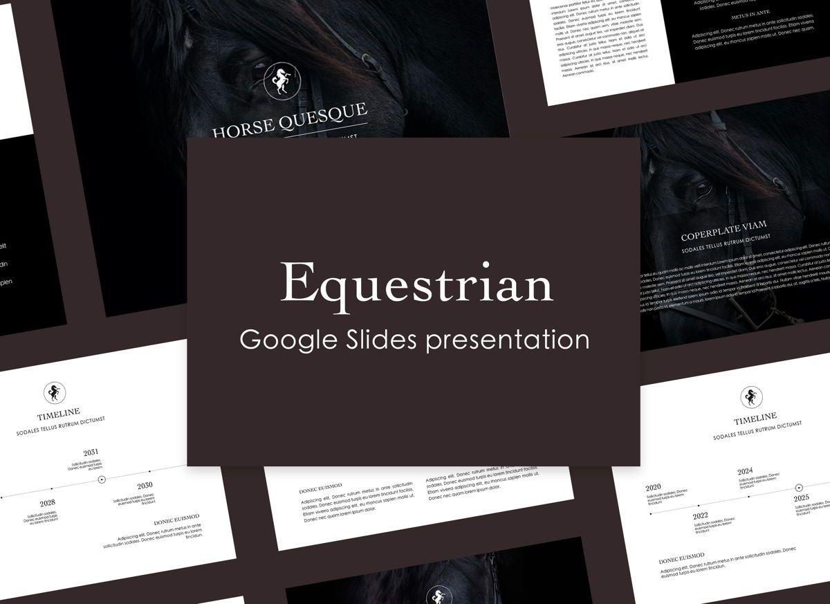 Equestrian Google Slides Presentation Template, 05124, Presentation Templates — PoweredTemplate.com